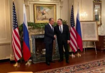 Vaşinqtonda Pompeo ilə Lavrov arasında görüş başlayıb