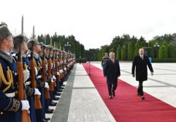 Official welcome ceremony held in Baku for King Abdullah II of Jordan