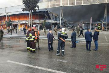 Deputy Minister of Emergency Situations arrives in fire scene