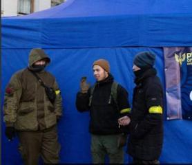Ukraynada Prezident Admnistarsiyasının qarşısında mitinq keçirilib