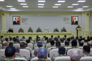 Azerbaijani Defense Minister gave relevant instructions to the command staff in regard with the fulfillment of the main tasks