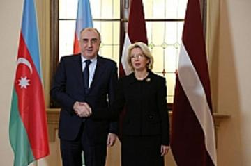Azerbaijani FM meets with Speaker of the Saeima of Latvia