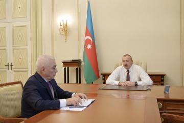 "President Ilham Aliyev receives the president of ""Azerenerji"" OJSC"