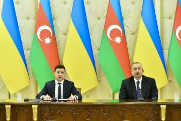 """Volodymyr Zelensky: """"Azerbaijan and Ukraine support each other in restoring territorial integrity and sovereignty"""""""