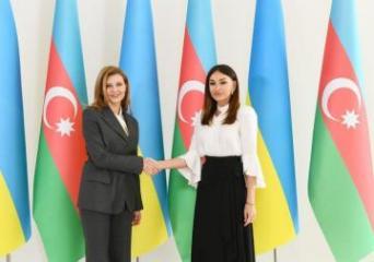 First Vice President of Azerbaijan Mehriban Aliyeva met with Elena Zelenskaya