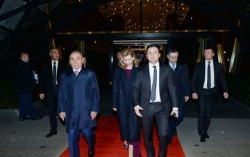 President of Ukraine ends visit to Azerbaijan