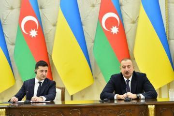 """Prezident İlham Əliyev: """"Ukrayna ilə siyasi əlaqələrimiz yüksək səviyyədədir"""""""