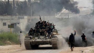 На сирийскую армию напали сотни боевиков на танках