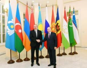 Prezident İlham Əliyev Sankt-Peterburqda MDB dövlət başçılarının qeyri-rəsmi görüşündə iştirak edib