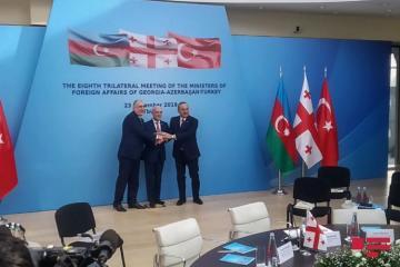 Tbilisidə Azərbaycan, Türkiyə və Gürcüstan XİN başçılarının görüşü keçirilib