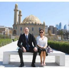 Первый вице-президент Мехрибан Алиева поздравила президента Ильхама Алиева с Днем рождения