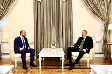 Prezident İlham Əliyev Bilal Ərdoğanı qəbul edib