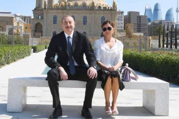 First Vice-President Mehriban Aliyeva congratulates President Ilham Aliyev on his birthday