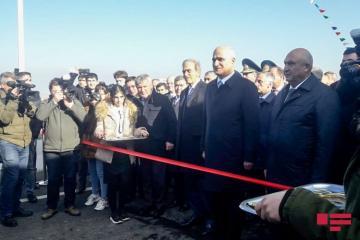 Azərbaycan-Rusiya sərhədində inşa edilən körpünün açılışı olub