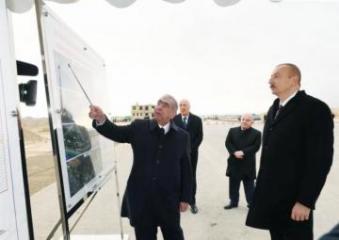 Президент Ильхам Алиев ознакомился со строительством новой автомобильной дороги Баку-Губа-РФ - [color=red]ОБНОВЛЕНО[/color]