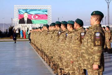 Əfqanıstandakı sülhməramlıların bir qrupu Azərbaycana qayıdıb