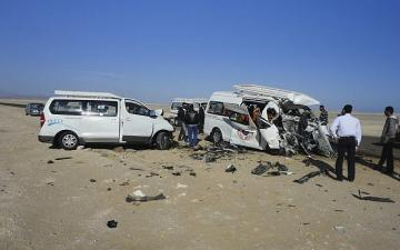 Egypt says 22 killed in road crash in country's North