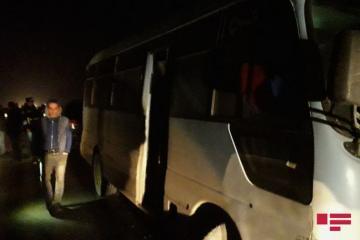 В цепной аварии в Хачмазе пострадали 2 человека