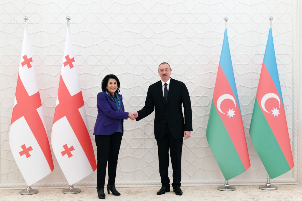 Official welcome ceremony was held for Georgian President