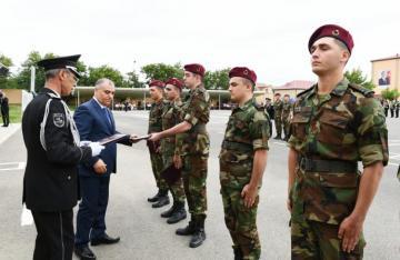 В N-ской воинской части СГБ состоялась церемония увольнения в запас военнослужащих срочной действительной военной службы