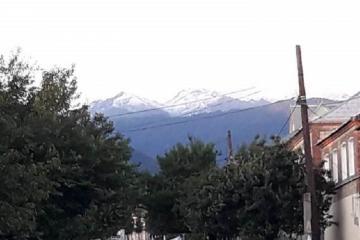 В Загатальском районе выпал снег