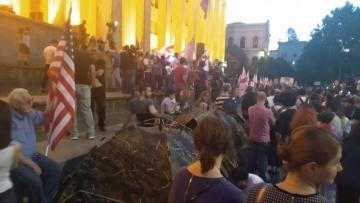 Tbilisidə aksiya davam edir