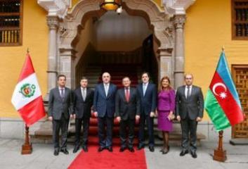 Azerbaijani FM meets with his Peruvian counterpart