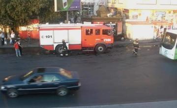 Xətai rayonunda baş vermiş yanğın yolda sıxlığa səbəb olub