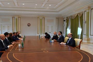 Президент Азербайджана принял делегацию Италии