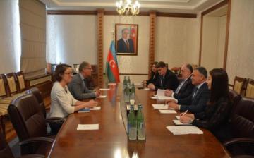Эльмар Мамедъяров встретился с послом Германии
