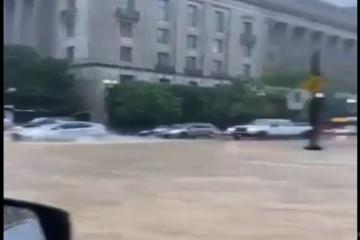 Vaşinqtonda metro və Ağ Evi sel suları basıb