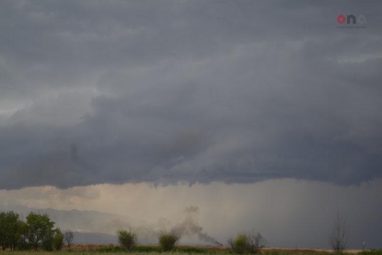 Ermənilərin törətdiyi yanğını yağan yağış söndürüb