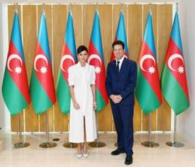 Birinci vitse-prezidentMehriban Əliyeva MEDEF Biznes Şurasının prezidenti ilə görüşüb