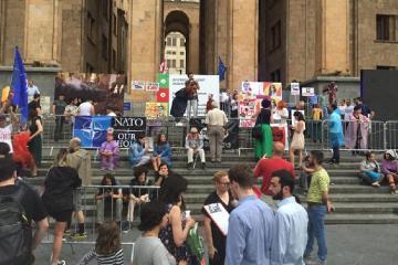 Tbilisidə etiraz aksiyası bərpa edilib