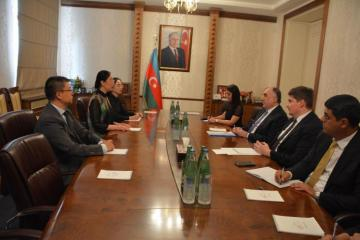 Foreign Minister Elmar Mammadyarov received newly appointed Ambassador of China to Azerbaijan.