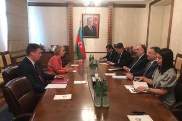 Глава МИД Азербайджана принял посла Великобритании