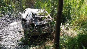 В Сабирабаде автомобиль упал в коллектор