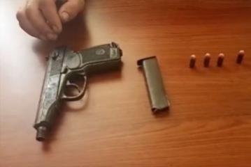 Bakıda keçmiş məhkumdan silah götürülüb