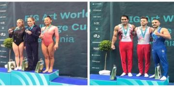 Azərbaycan gimnastları Dünya Kubokunda 2 qızıl medal qazanıb