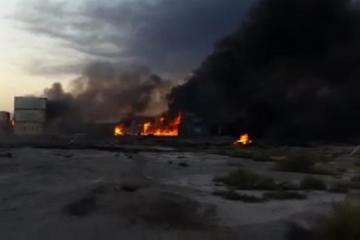 İranda neft məhsulları anbarında güclü yanğın olub, ölən var