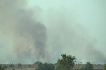 Fire set by Armenians in occupied Azerbaijani territories continues