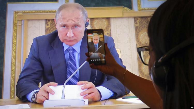 Putin Trampın bəyanatını təkzib edib: