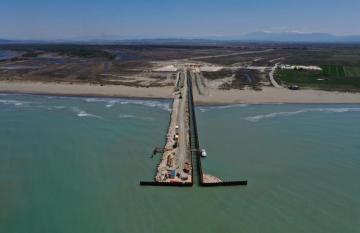 TAP üzrə Albaniyada dənizdə aparılan tikinti işləri başa çatdırılıb