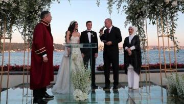 Turkey's Erdogan acts as witness at Mesut Ozil's wedding
