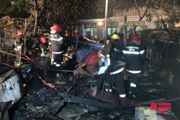 Пожар в бакинском кафе