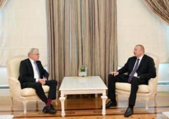 Prezident İlham Əliyev Niderland-Azərbaycan Dostluq Qrupunun sədrini qəbul edib