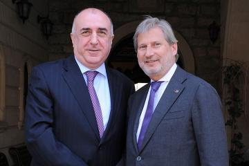 Эльмар Мамедъяров принял делегацию во главе с Йоханнесом Ханом