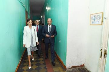First Vice-President Mehriban Aliyeva viewed conditions in Children's Arts School No. 2