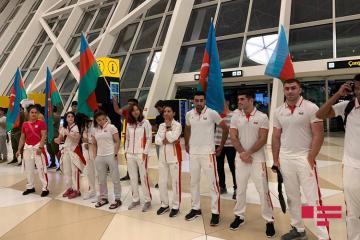 Сборные Азербайджана отправились на II Евроигры  - [color=red]ФОТО[/color]