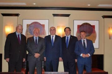 Elmar Mammadyarov met with Minsk Group Co-Chairs in Washington